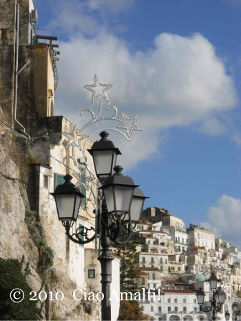 Christmas lights Amalfi
