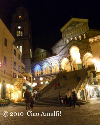 Duomo of Amalfi Christmas Lights