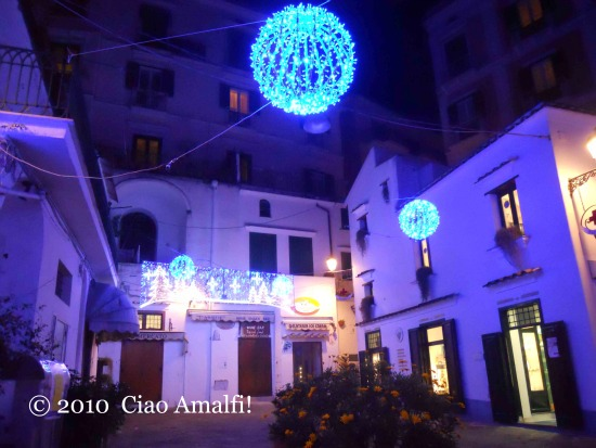 Christmas Lights Piazza dei Dogi Amalfi
