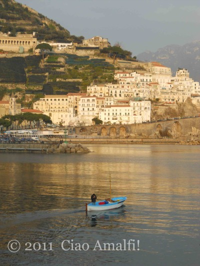 Winter Fishing Boat Amalfi Italy