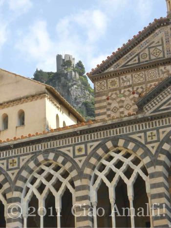 Torre dello Ziro from Piazza Duomo Amalfi