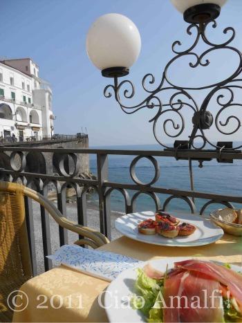 Lunch at Gran Caffe Amalfi
