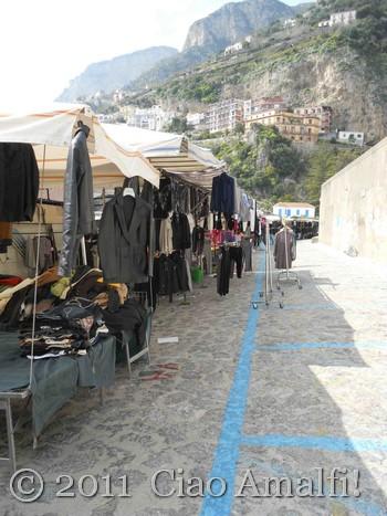Market Stalls in Amalfi