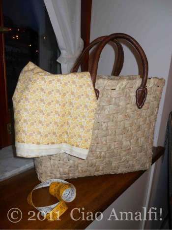 Positano Beach Bag Before