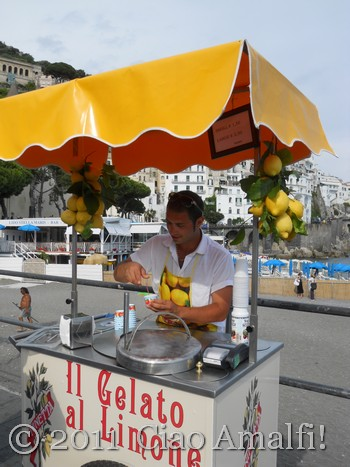 Lemon Ice in Amalfi