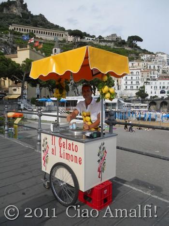 Granita di Limone Cart in Amalfi