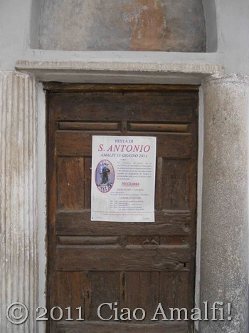 Ciao Amalfi Coast Blog Festival of Sant'Antonio Antique Door