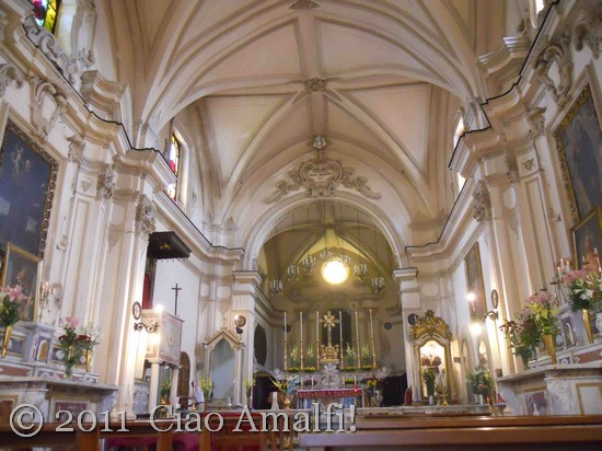 Ciao Amalfi Coast Blog Festival of Sant'Antonio Church Nave
