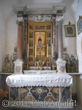 Ciao Amalfi Coast Blog Festival of Sant'Antonio Crypt Altar