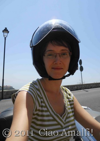 Laura on the Scooter