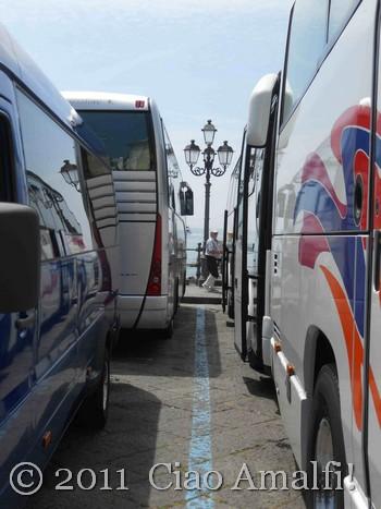 Buses in Amalfi