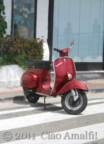 Red Vespa in Amalfi