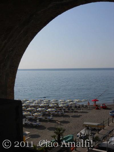 Summer morning on the Beach in Atrani