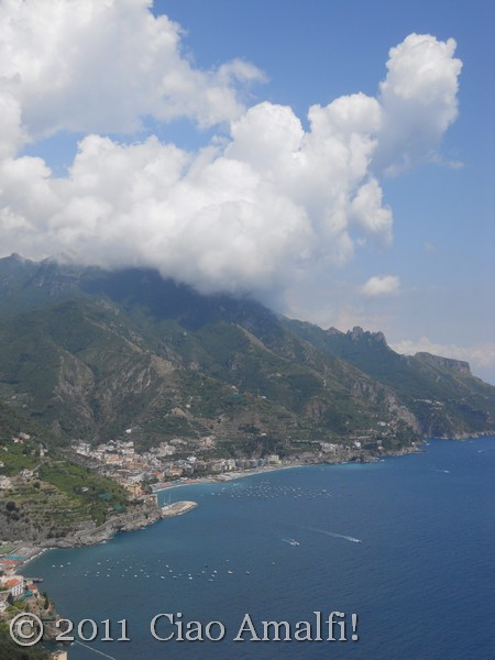 Big clouds over Maiori and Minori