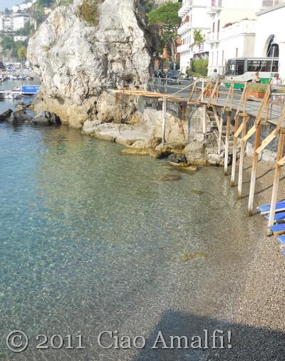 Spiaggia La Marinella in Amalfi