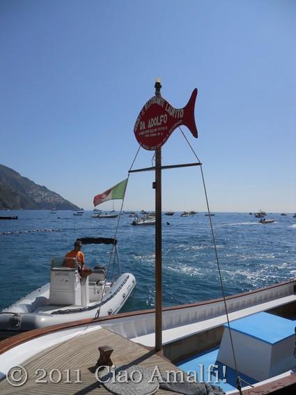 Boat to the Laurito Beach
