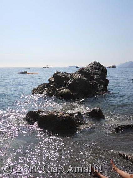 Sunshine on the sea in Positano