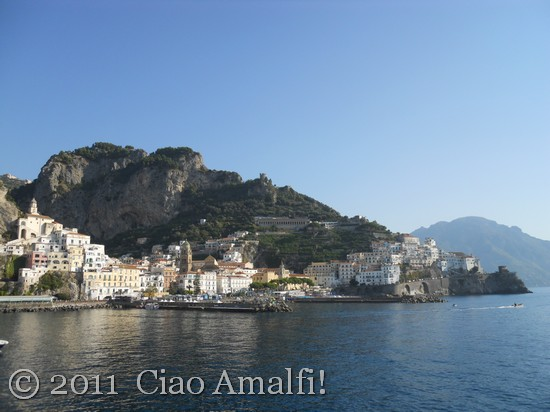 View of Amalfi from Port