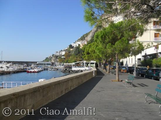 Walking Along the Amalfi Harbor