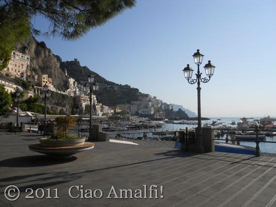 Walking Along the Port in Amalfi