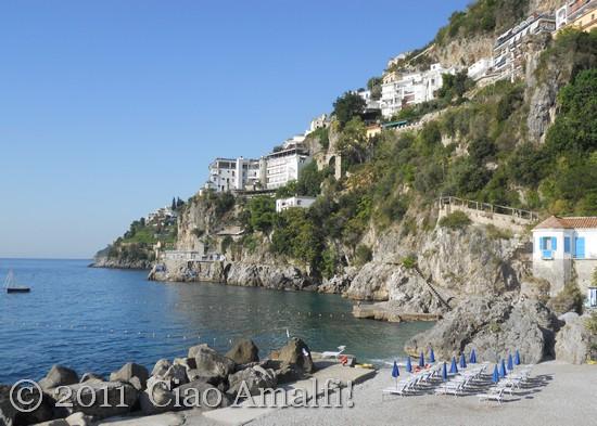 Sirene Beach on the Amalfi Coast