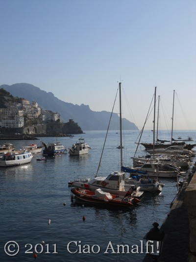 Boats in the Amalfi Harbor