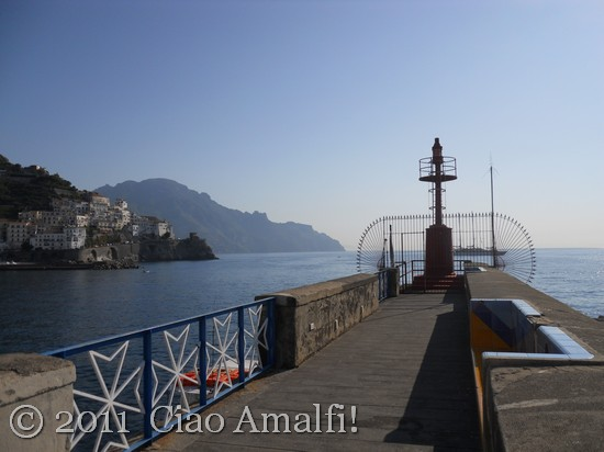 Walking to the Lighthouse in Amalfi