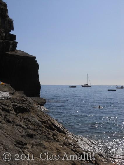 Peaceful beach on the Amalfi Coast
