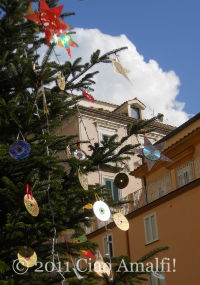 Christmas decorations in Amalfi