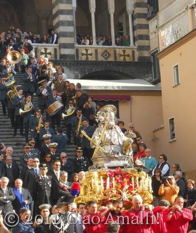 Statue of Sant' Andrea in Amalfi Procession