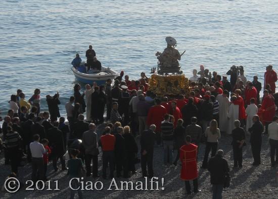 Beach procession in Amalfi