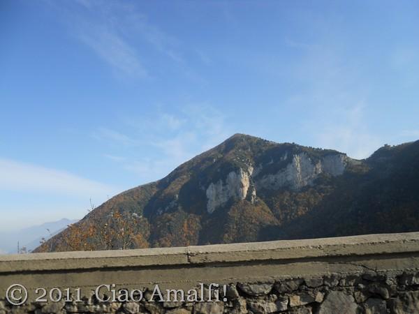 Autumn mountains Amalfi Coast