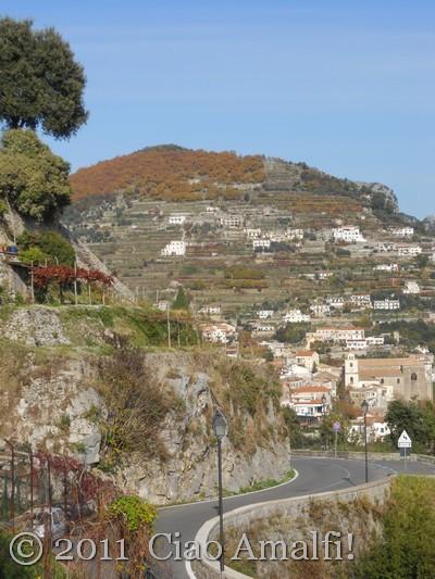Autumn colors on the Amalfi Coast