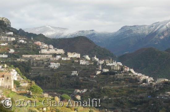 Snow on the Amalfi Coast