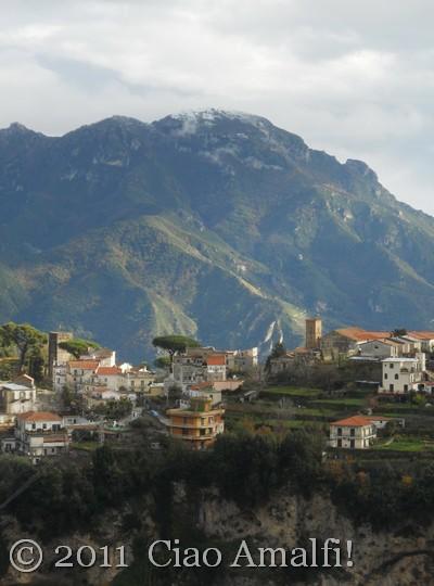 Snow above Ravello