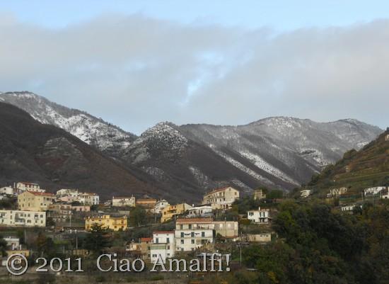 Winter snow above Scala