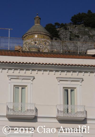 Duomo of Amalfi in January sunshine