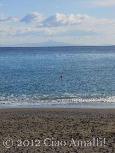 Quiet Amalfi Beach in January