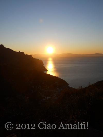 Sunrise on the Amalfi Coast