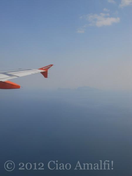 Landing in Naples Airport Island of Capri