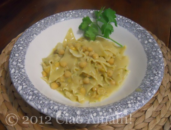Italian Recipe for Pasta e Ceci