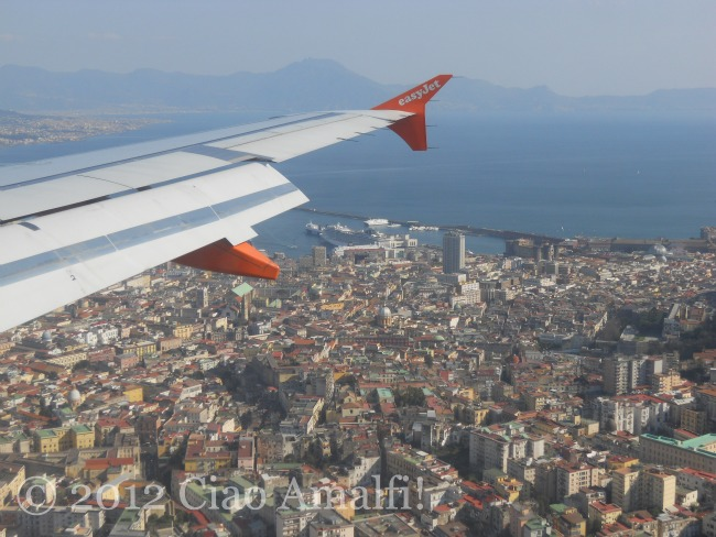 EasyJet flying into Naples Italy