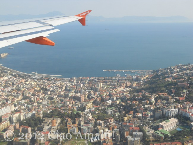 Landing in Naples Airport Mergellina