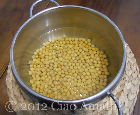 Soak chickpeas overnight before cooking