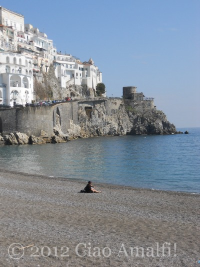 Spring on the Amalfi Coast Beach
