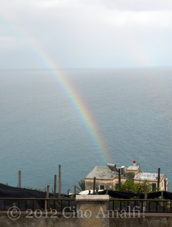 Amalfi Coast Rainbow for Easter