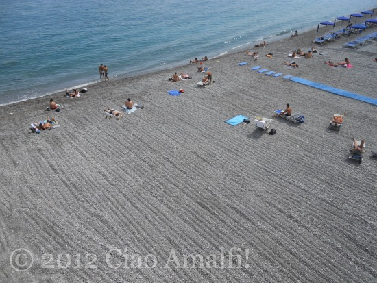 Amalfi Coast Marina Grande Beach Ready for Summer