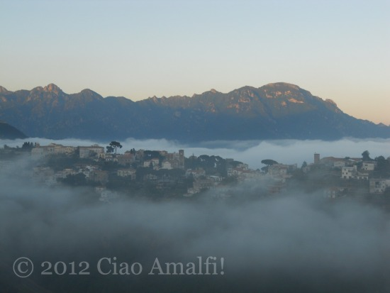 Amalfi Coast Travel Blog Ravello in Clouds