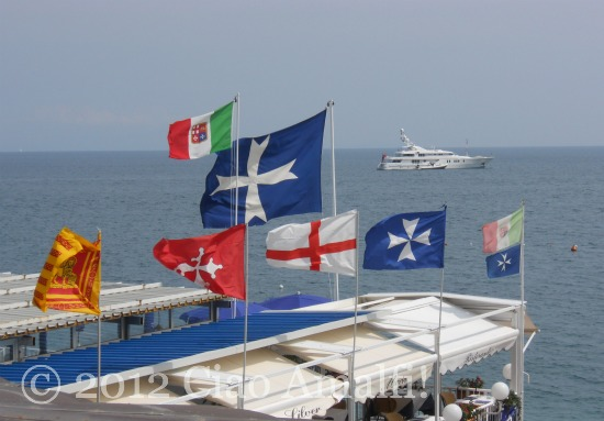 Regata delle Antiche Repubbliche marinare Marina Grande 2012 flags