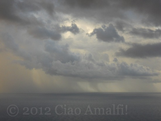 Stormy Sea in the Morning on the Amalfi Coast